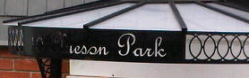 front door canopy CNC plotting plasma cut address sign custom metal wrought iron