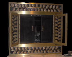 custom brass fireplace screen residential Toronto